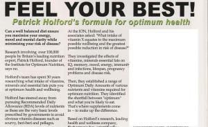 Patrick Holford and Bioharmony advert