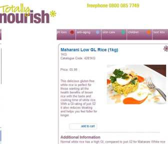 Totally Nourish Misleading text for Maharani Rice